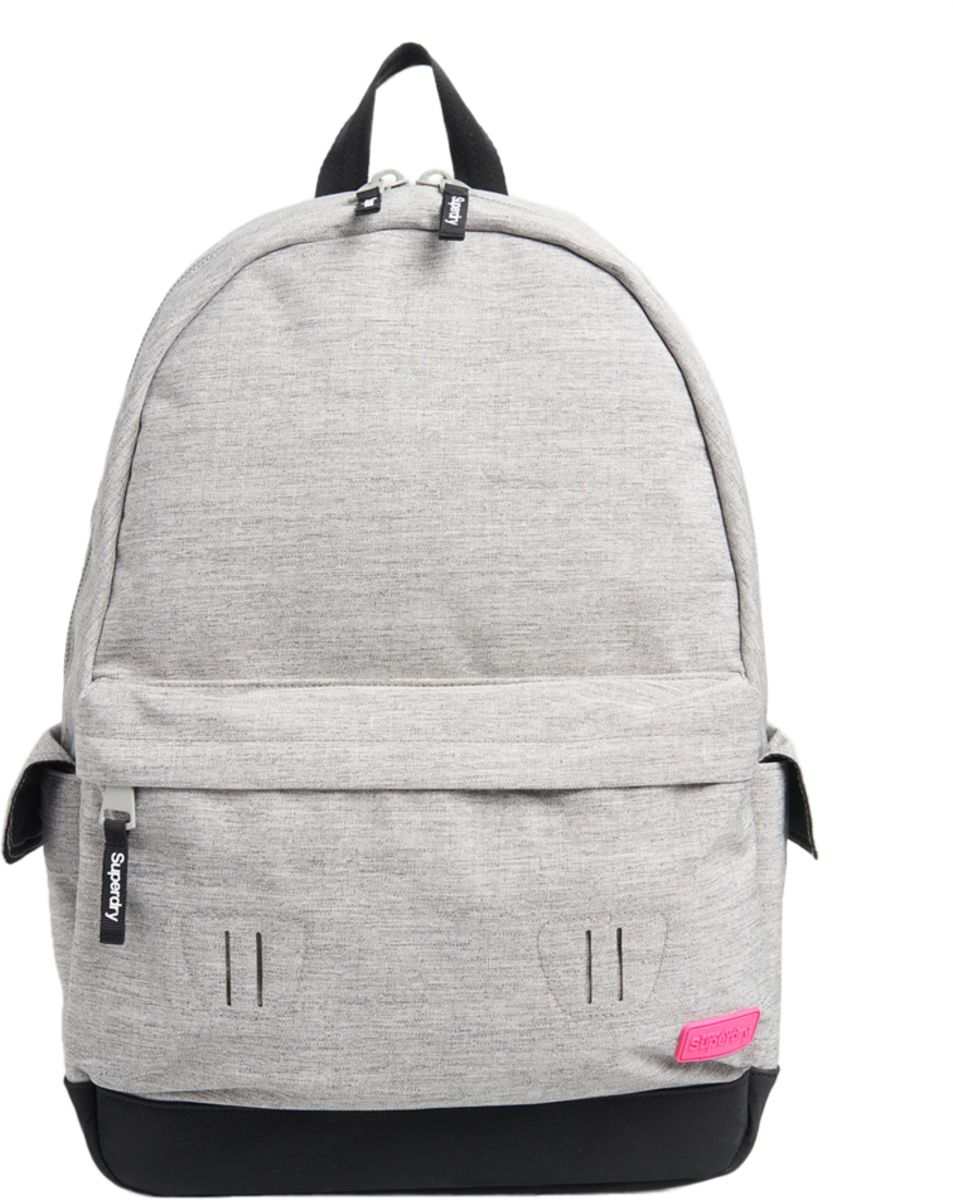 Superdry Rainbow Applique Montana Backpack Bag Grey