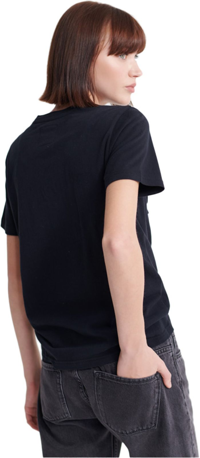 Superdry Real Original Glitter Embossed T-Shirt Black