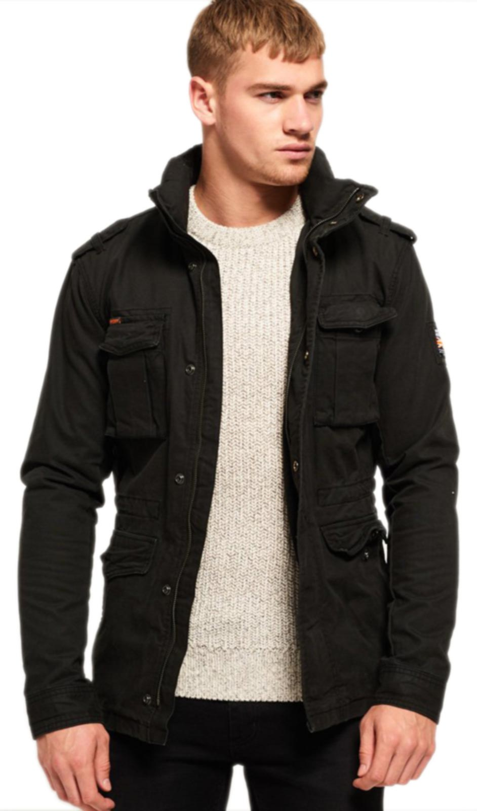 Superdry Rookie Heavy Weather Field Jacket Black
