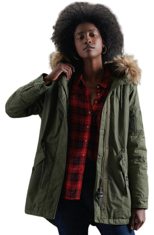 Superdry Rookie Parka Jacket Khaki