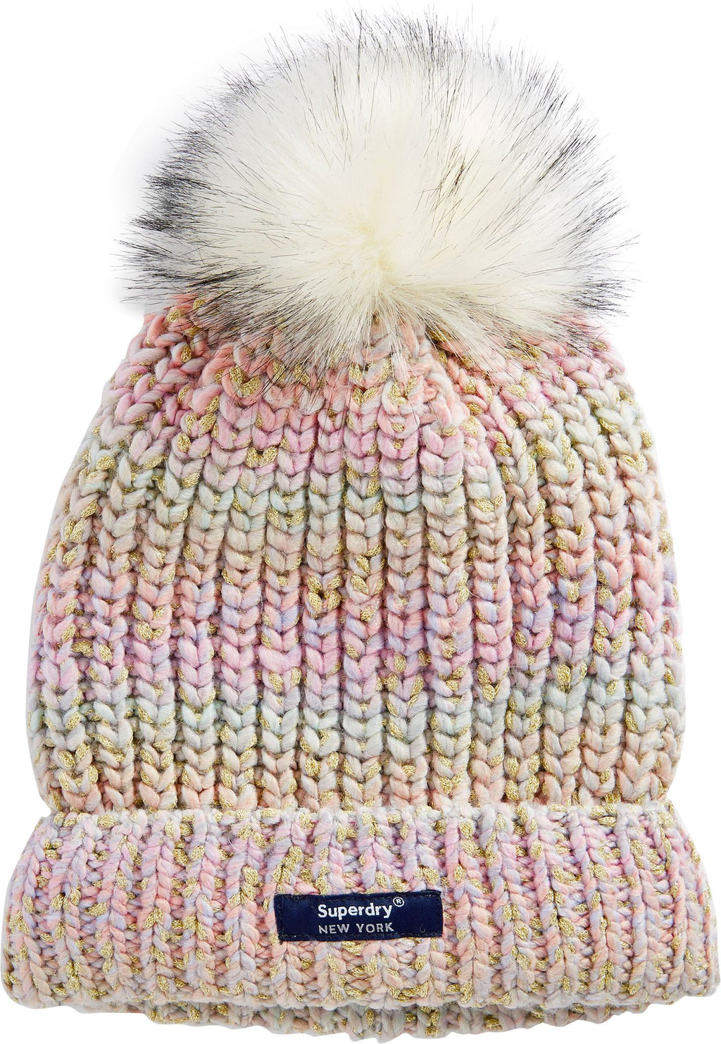 Superdry Sparkle Ombre Bobble Beanie Hat