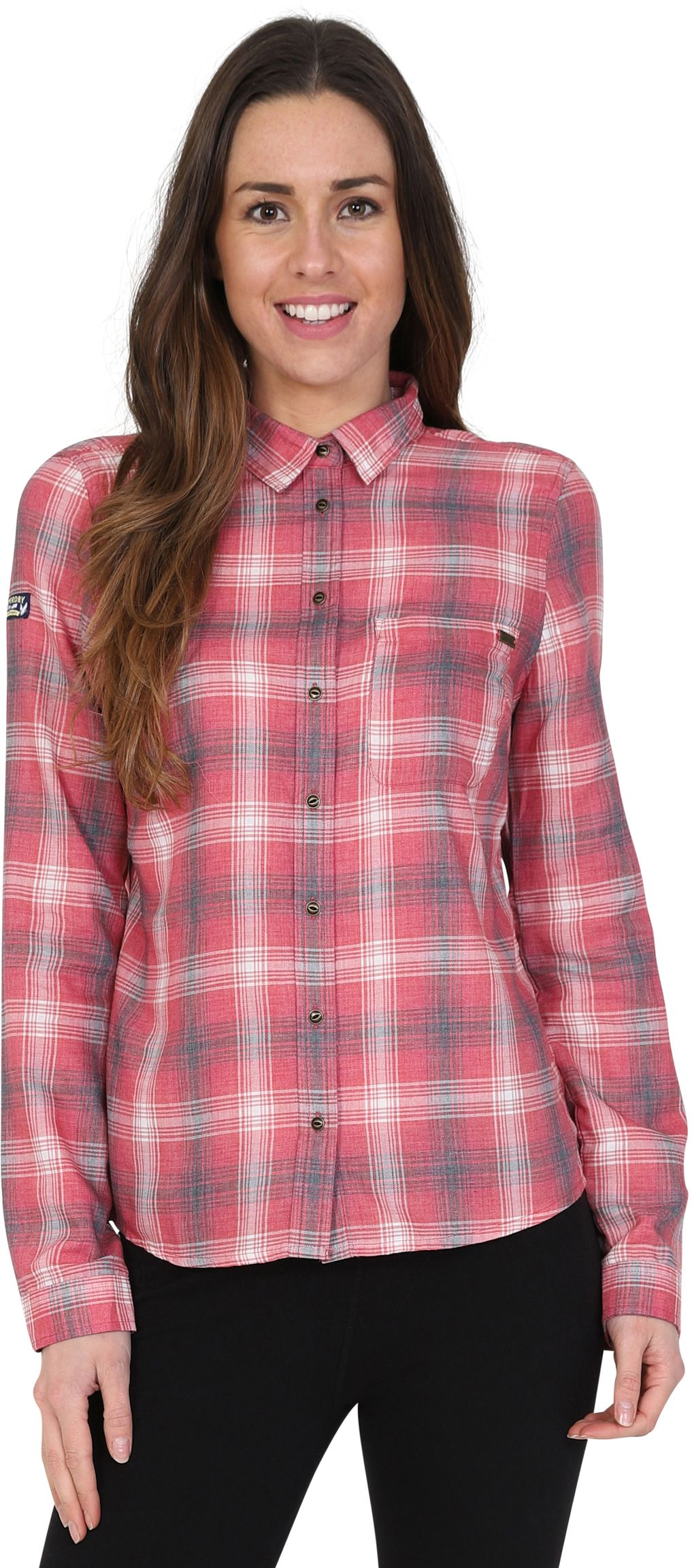 Superdry Star Studded Check Shirt Red