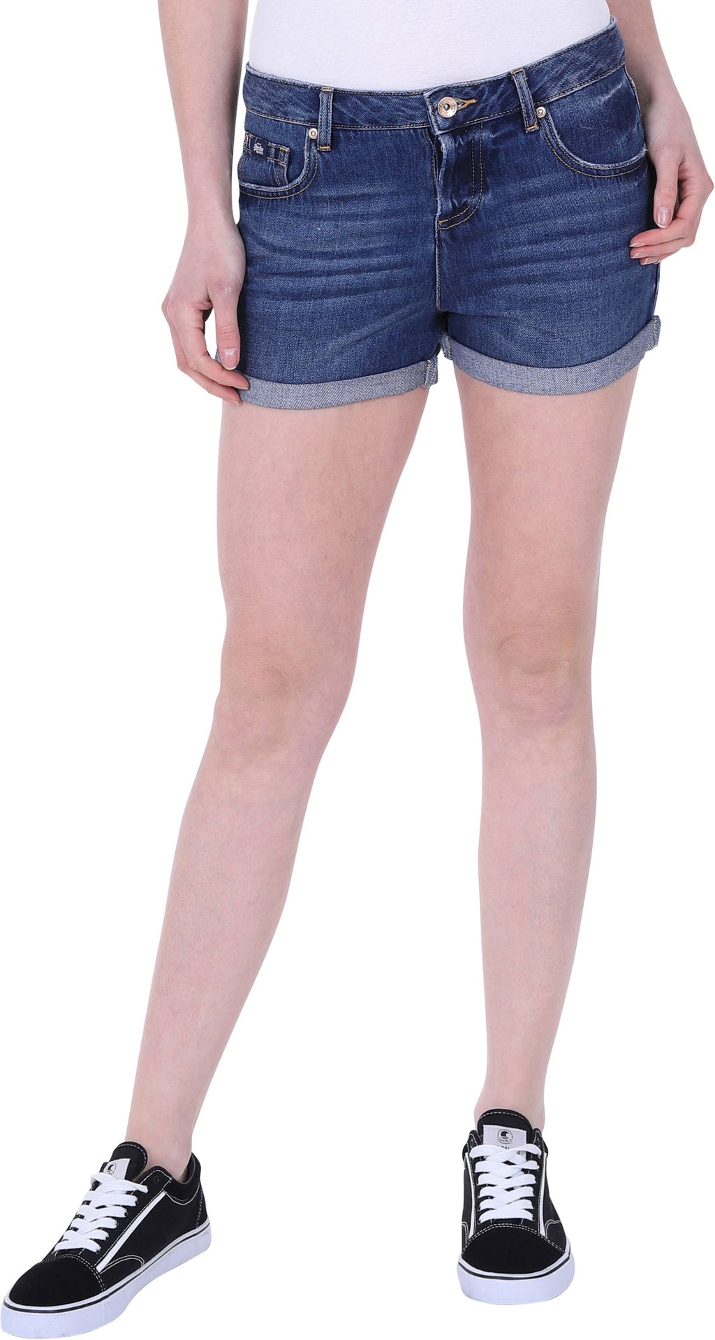 Superdry Steph Boyfriend Denim Shorts Blue