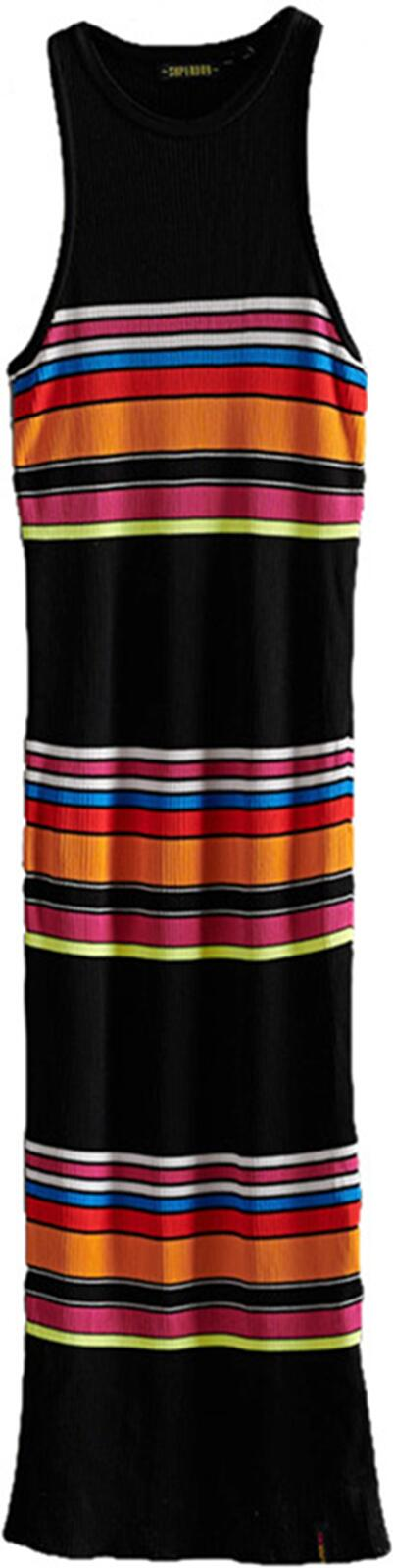 Superdry Stripe Midi Dress	Black Stripe