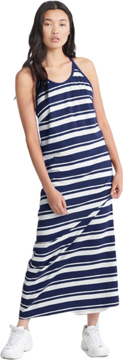 Superdry Summer Stripe Maxi Dress Navy