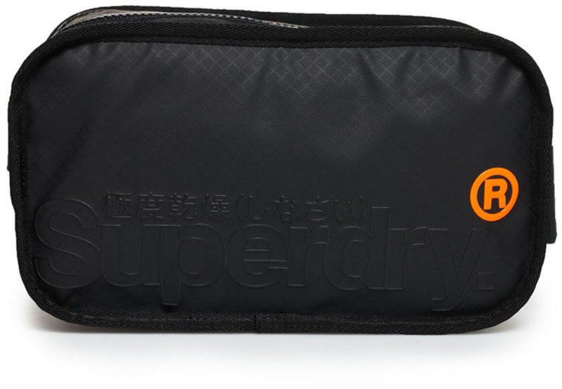 Superdry Tarp Travel Wash Bag Black