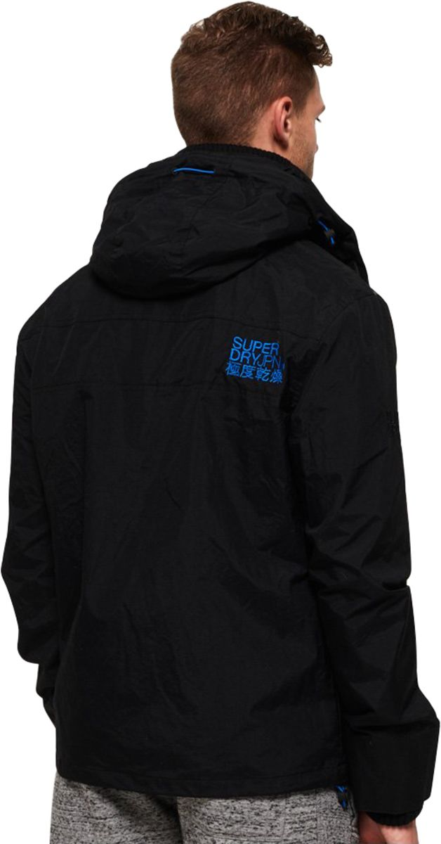 Superdry Technical Pop Zip SD-Windcheater Hooded Jacket Black