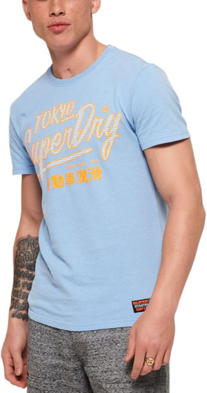 Superdry Ticket Type Pastel T-Shirt Blue