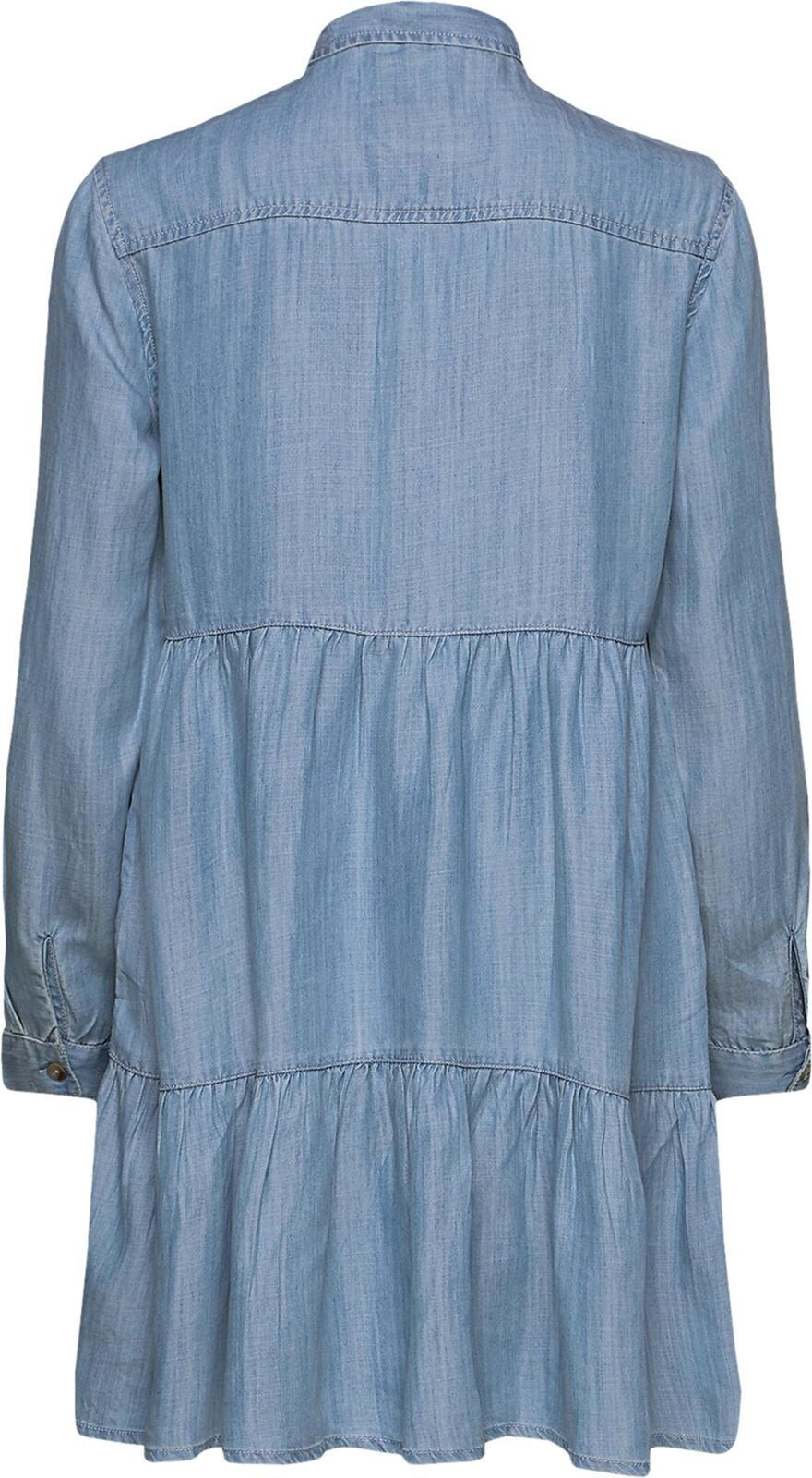 Superdry Tiered Shirt Dress	Light Indigo Used