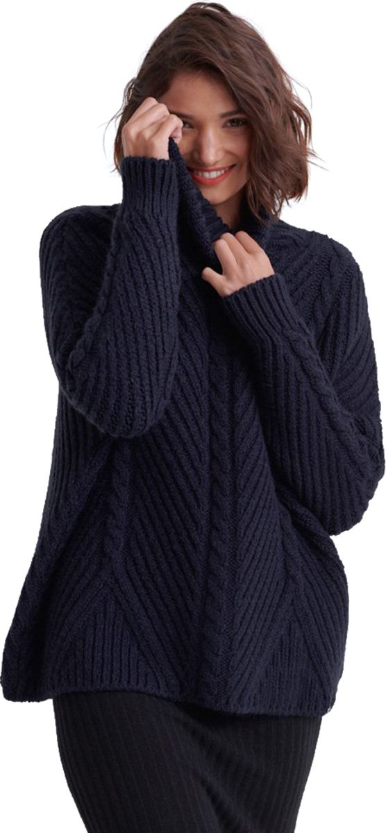 Superdry-Tori-Cable-Cape-Knit-Jumper-Blue