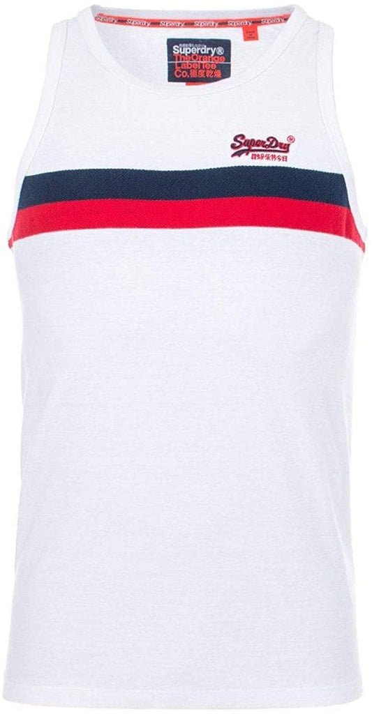 Superdry Tri Colour Vest Top White