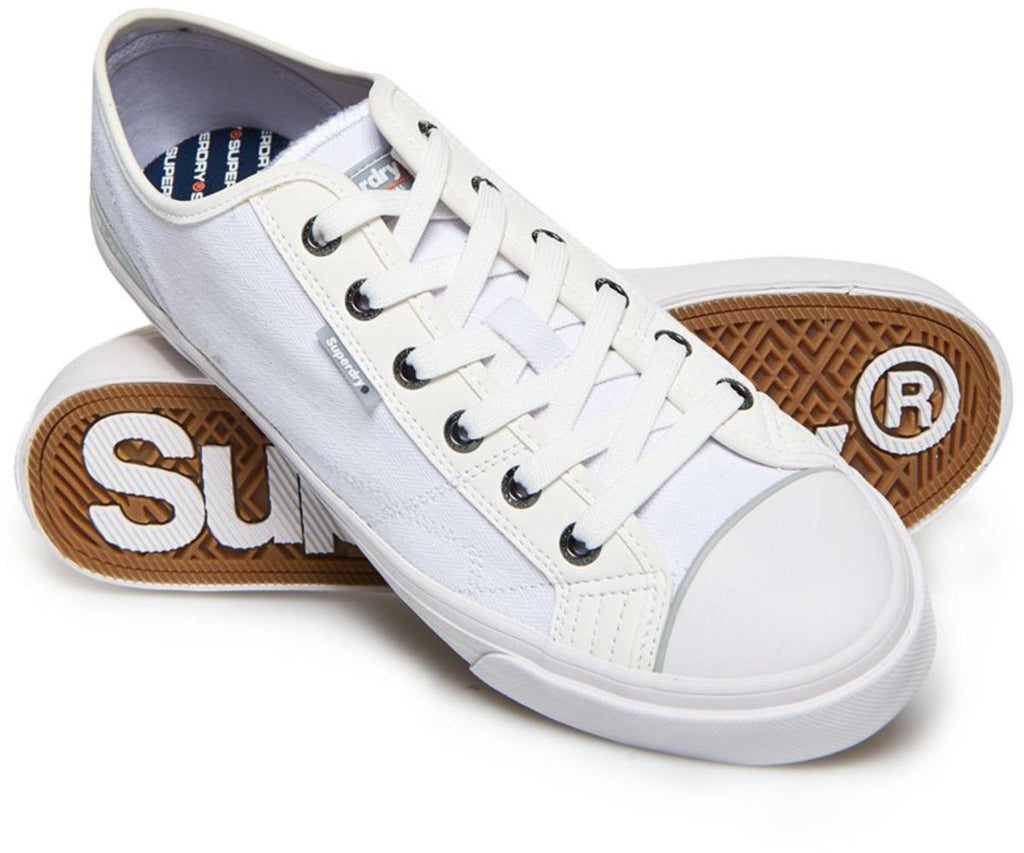 Superdry Trophy Classic Low Trainers White