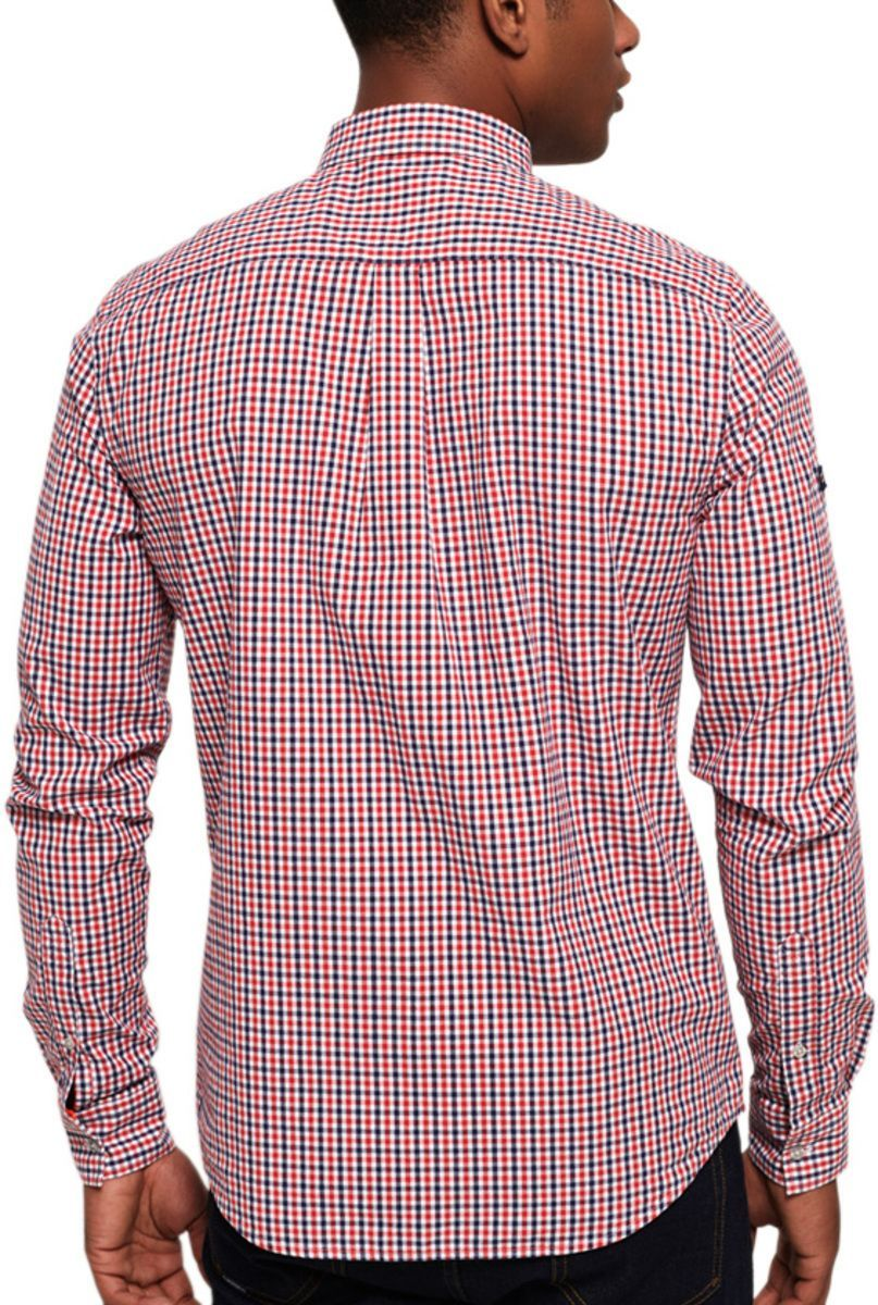 Superdry Ultimate University Oxford Long Sleeve Shirt Red