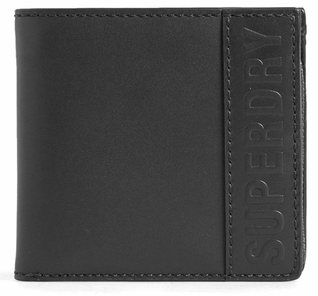 Superdry Vermont Bifold Leather Wallet Black