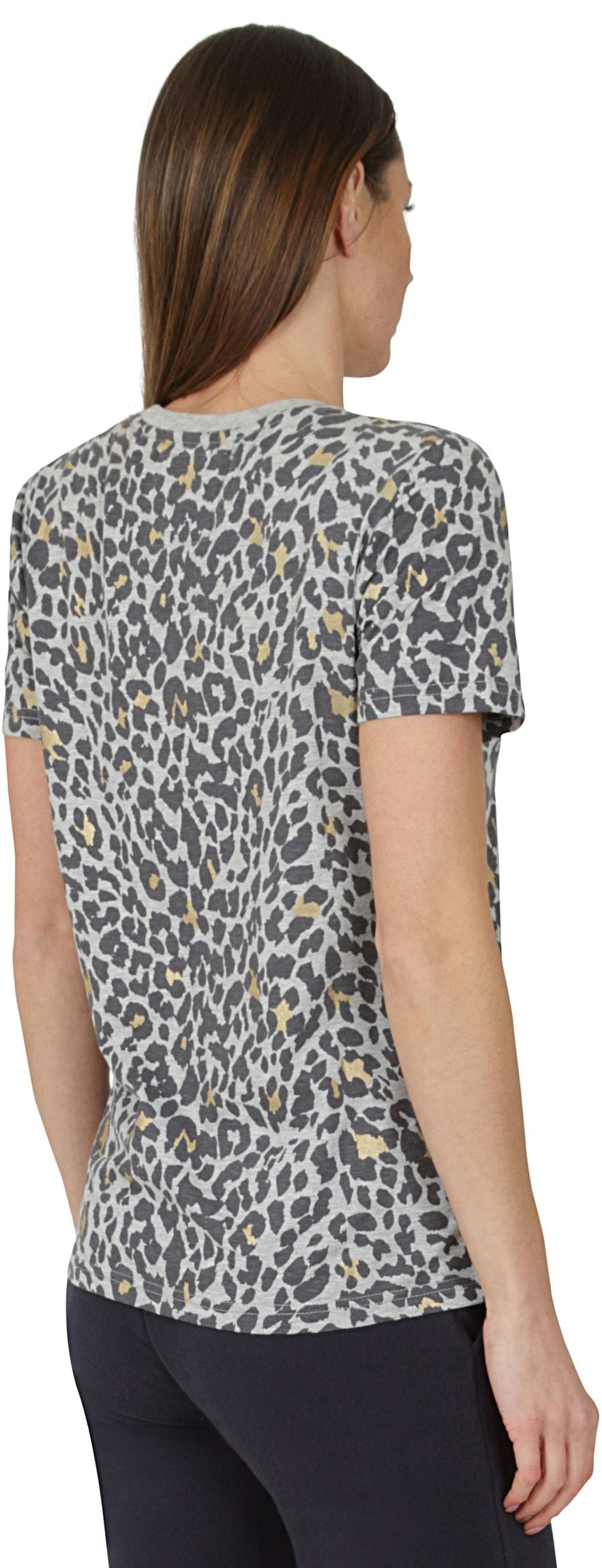 Superdry Vintage Logo Animal All Over Print T-Shirt Grey Marl