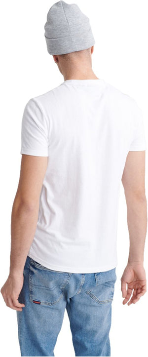 Superdry Vintage Logo Cross Hatch T-Shirt White