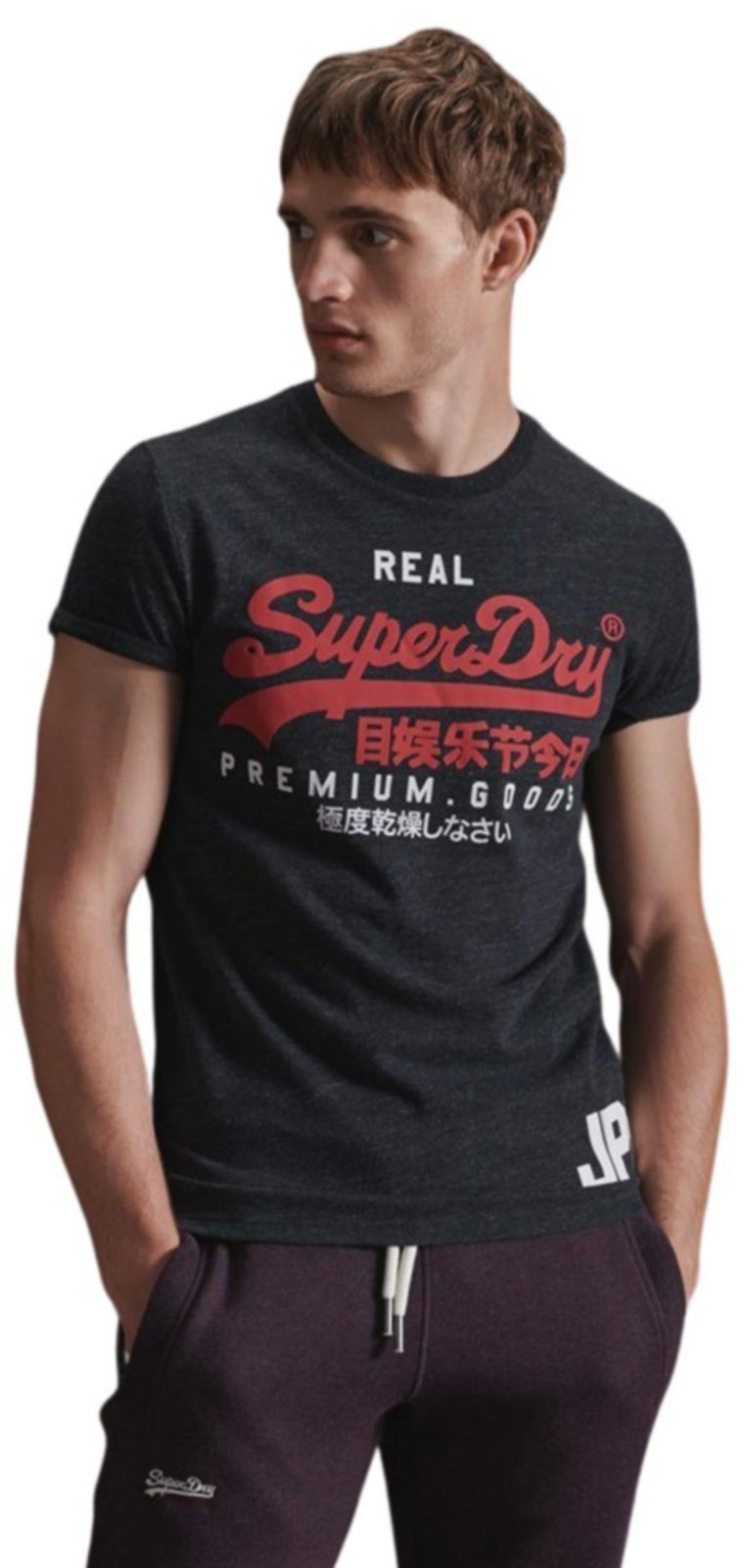 Superdry Vintage Logo Duo T-Shirt Black