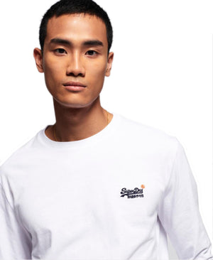 Superdry Vintage Logo Embroidered Long Sleeve T-Shirt White