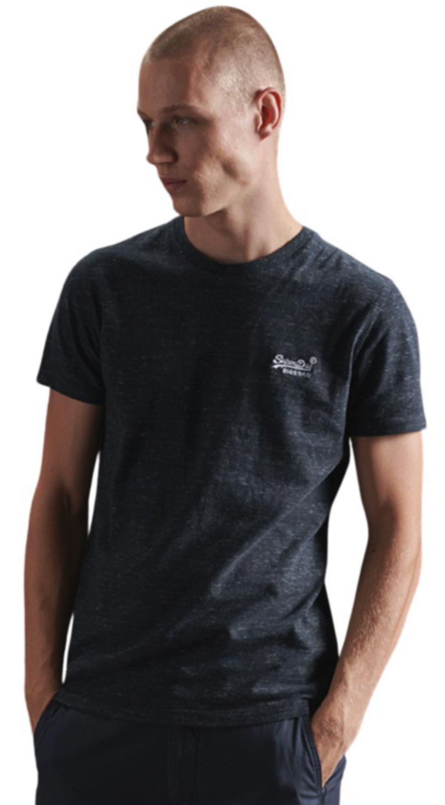 Superdry Vintage Logo Embroidered T-Shirt Blue