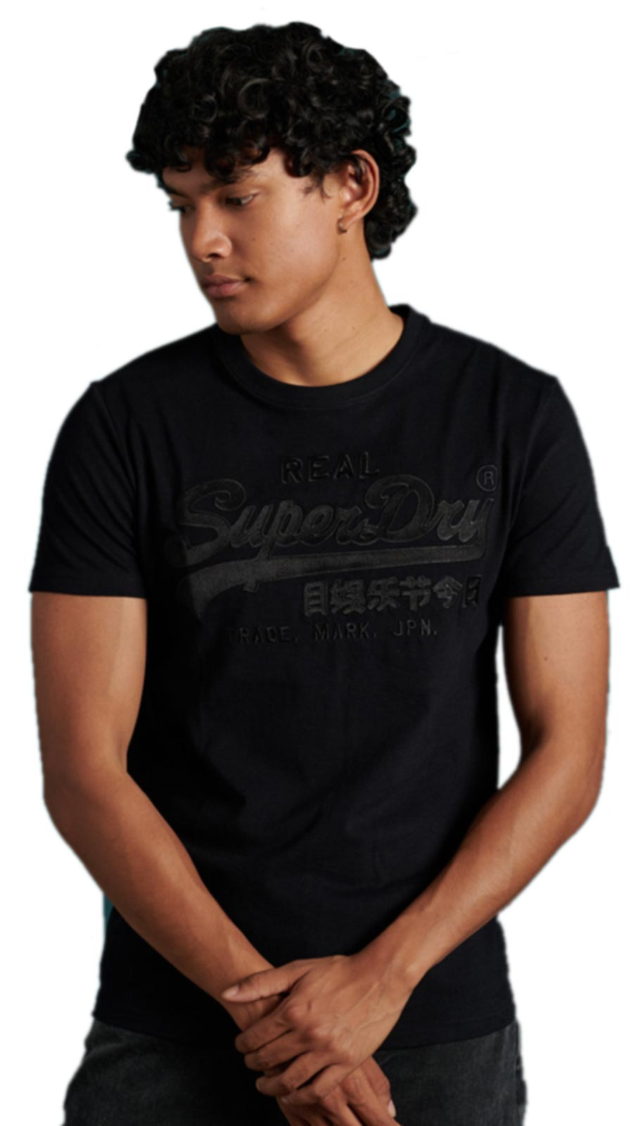 Superdry Vintage Logo Embroidery T-Shirt Black