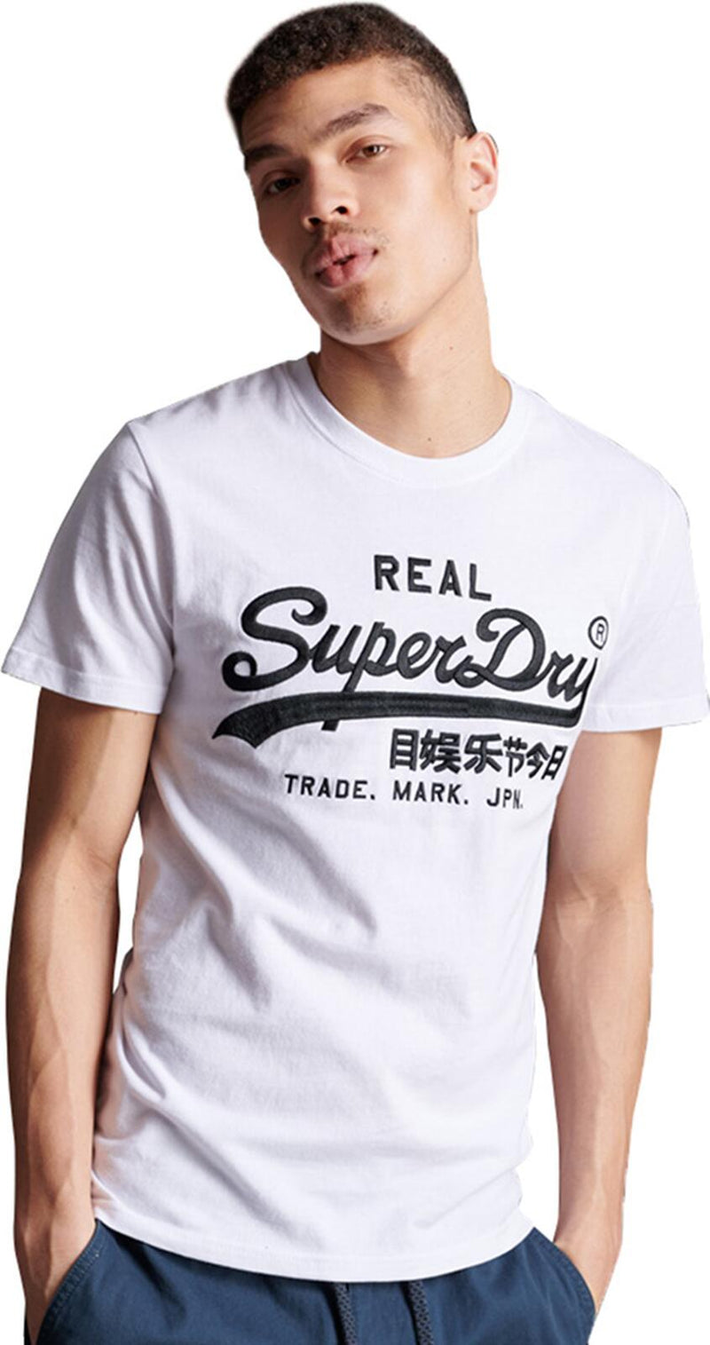 Superdry Vintage Logo Mono Embroidered T-Shirt	White