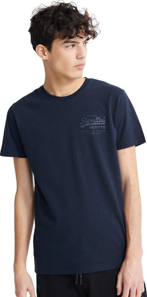 Superdry Vintage Logo Premium Goods Tonal Injection T-Shirt Blue