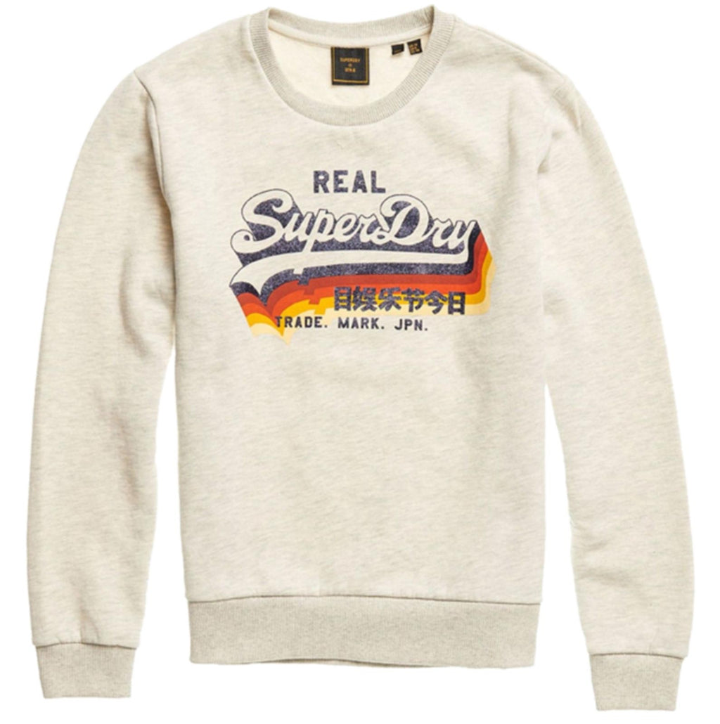 Superdry Vintage Logo Retro Rainbow Sweatshirt	Queen Marl