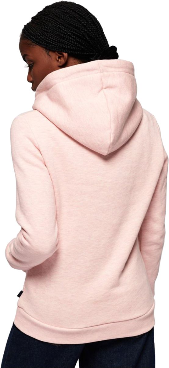 Superdry Vintage Logo Sequin Outline Hoodie Pink