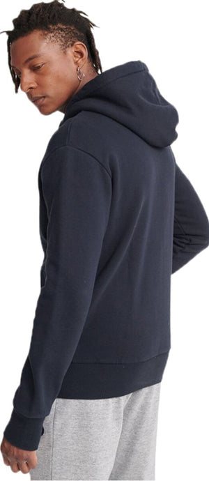Superdry Vintage Logo Tonal Injection Hoodie Navy