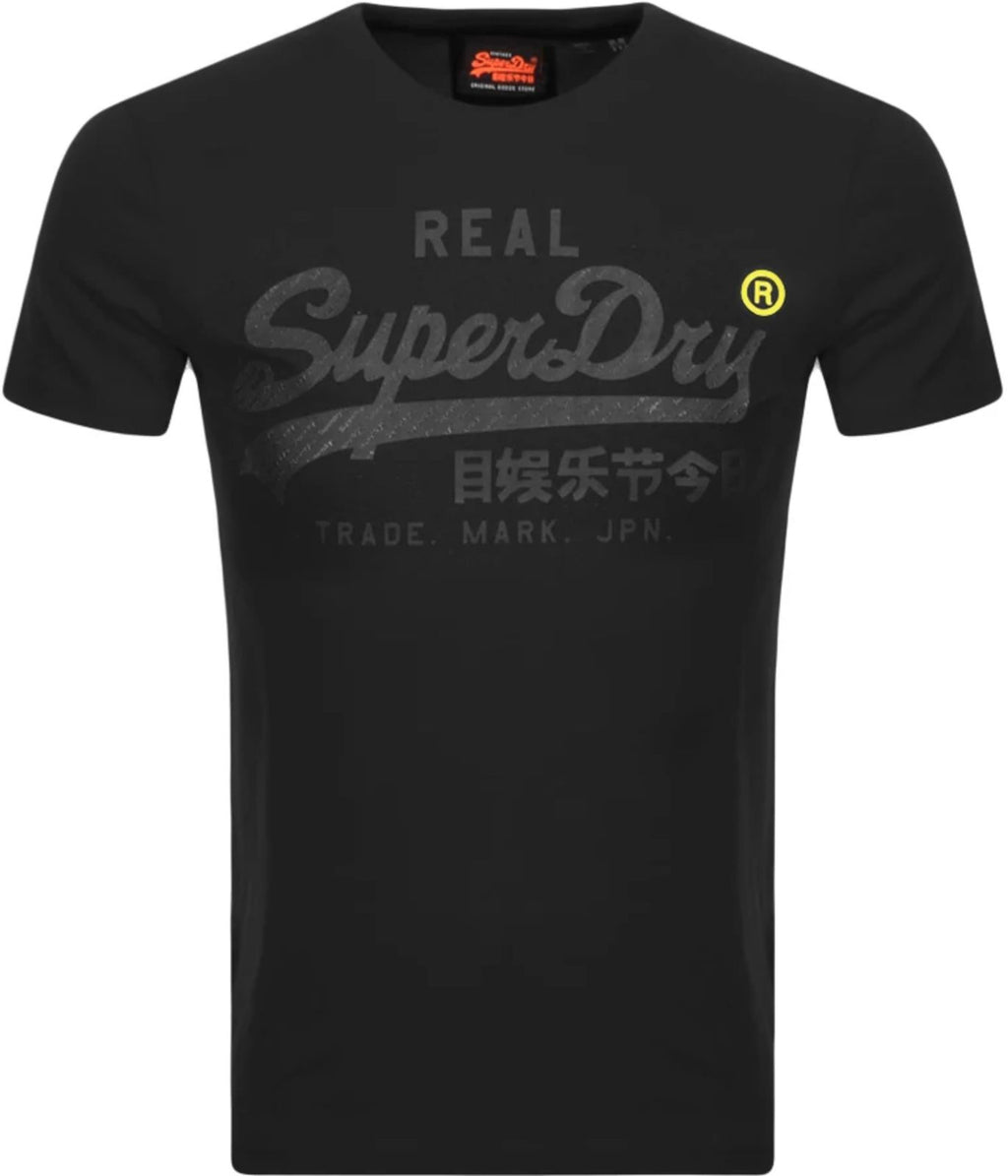 Superdry Vintage Logo Tonal Tape T-Shirt Black