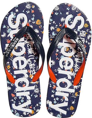 Superdry Women's AOP Flip Flops Blue