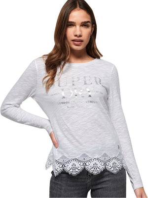 Superdry Women's Annabeth Lace Top White