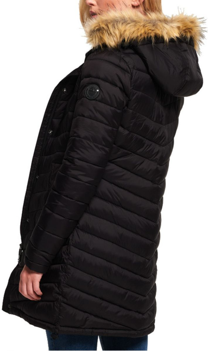 Superdry Women's Chevron Faux Fur Super Fuji Jacket