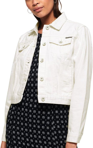 Superdry Women's Denim Girlfriend Jacket White