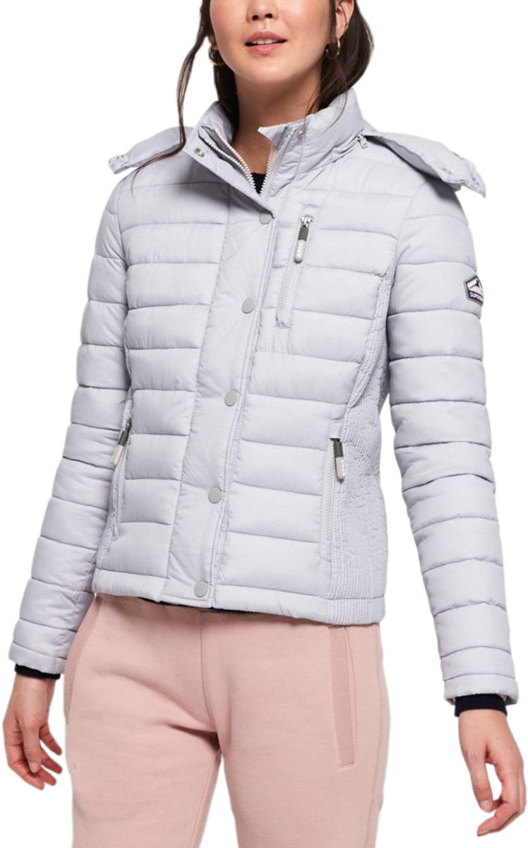 Superdry Women's Fuji Slim Double Zip Jacket Grey