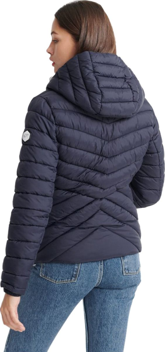 Superdry Women's Helio Padded Jacket Blue