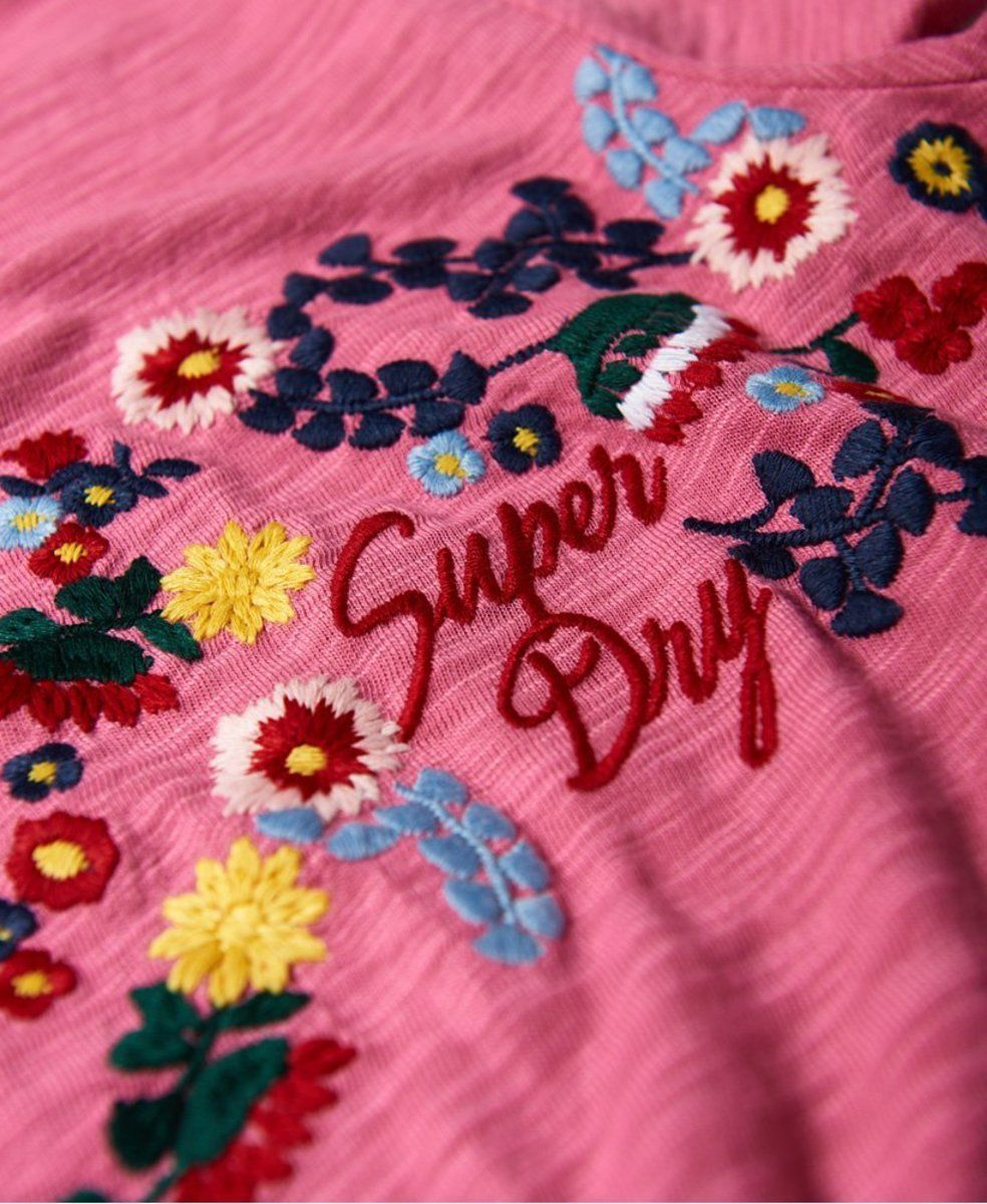 Superdry-T-Shirt-Women-039-s-Lexi-Embroidered-Tee thumbnail 4