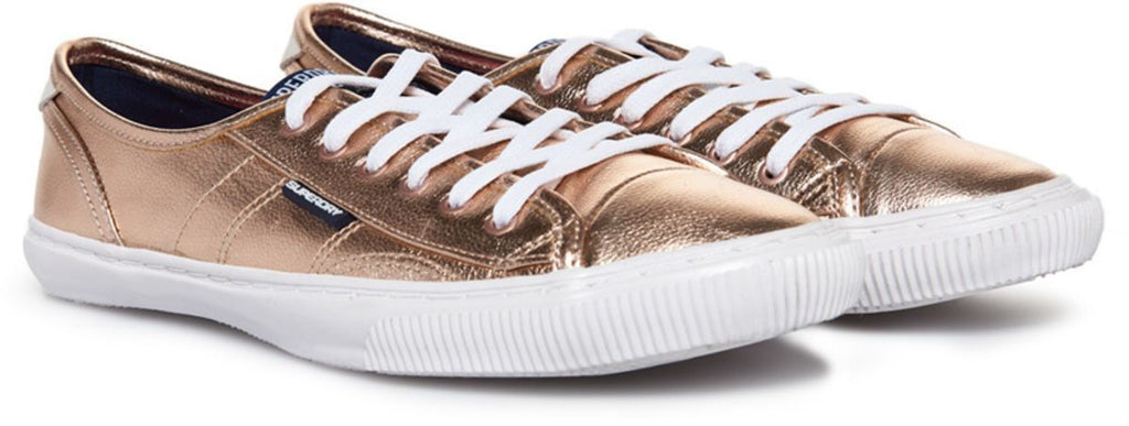 Superdry Women's Low Pro Luxe Trainers Gold