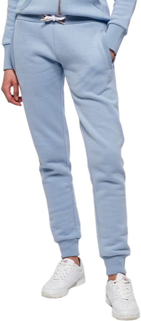 Superdry Women's Orange Label Elite Jogger Bottoms Blue