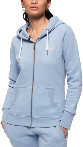 Superdry Women's Orange Label Elite Zip Front Hoodie Pink