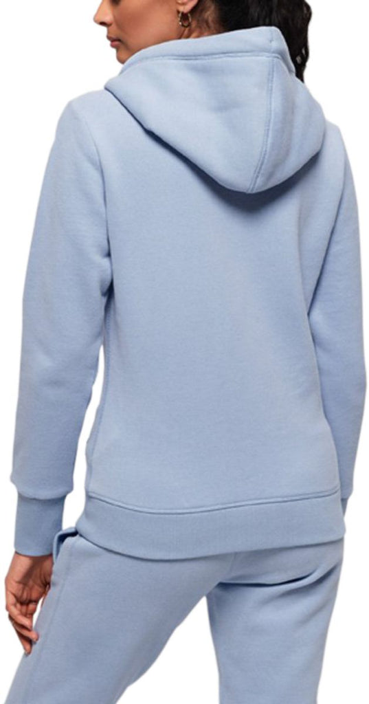 Superdry Women's Orange Label Elite Zip Front Hoodie Blue