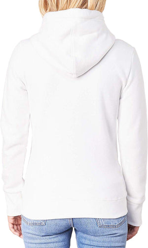 Superdry Women's Orange Label Elite Zip Front Hoodie White