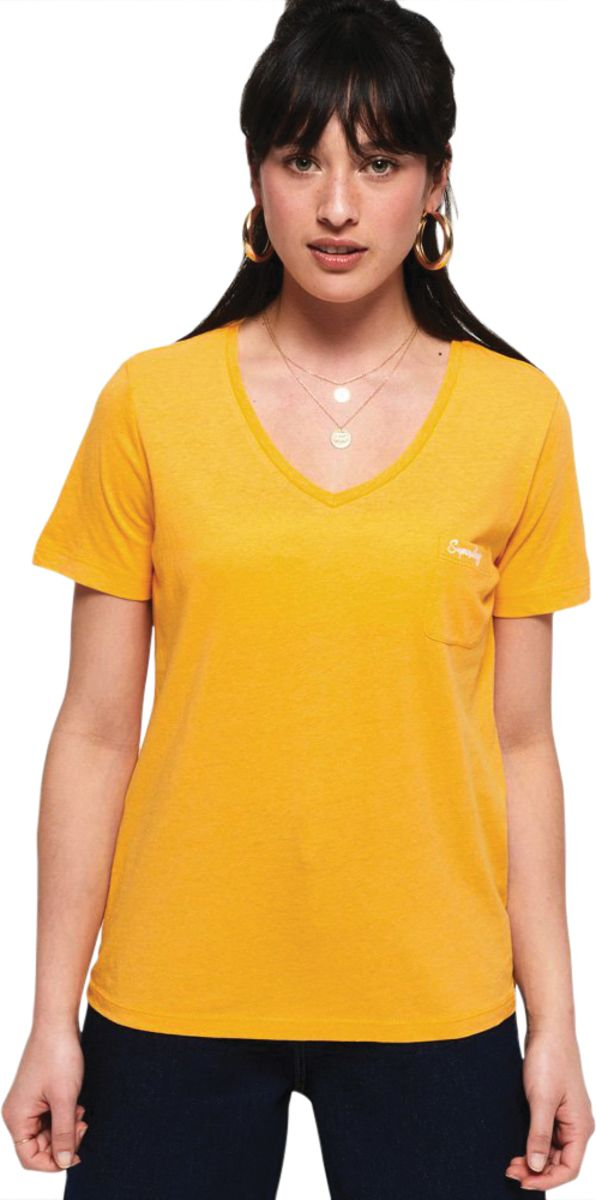Superdry Women's Orange Label Essential V-Neck T-Shirt