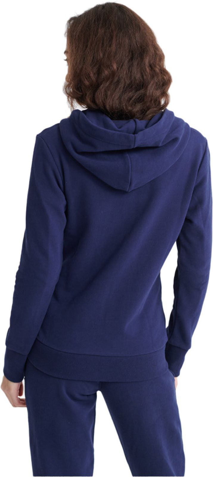 Superdry Women's Orange Label Zip Front Hoodie Navy