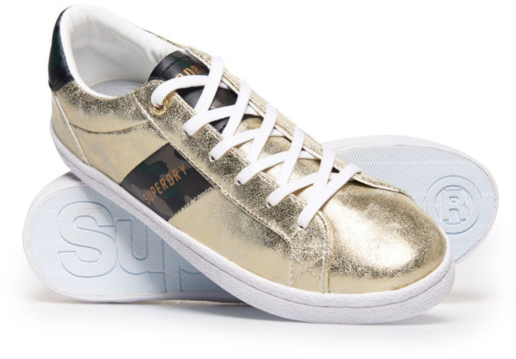 Superdry Women's Priya Sleek Low Pro Trainers Gold