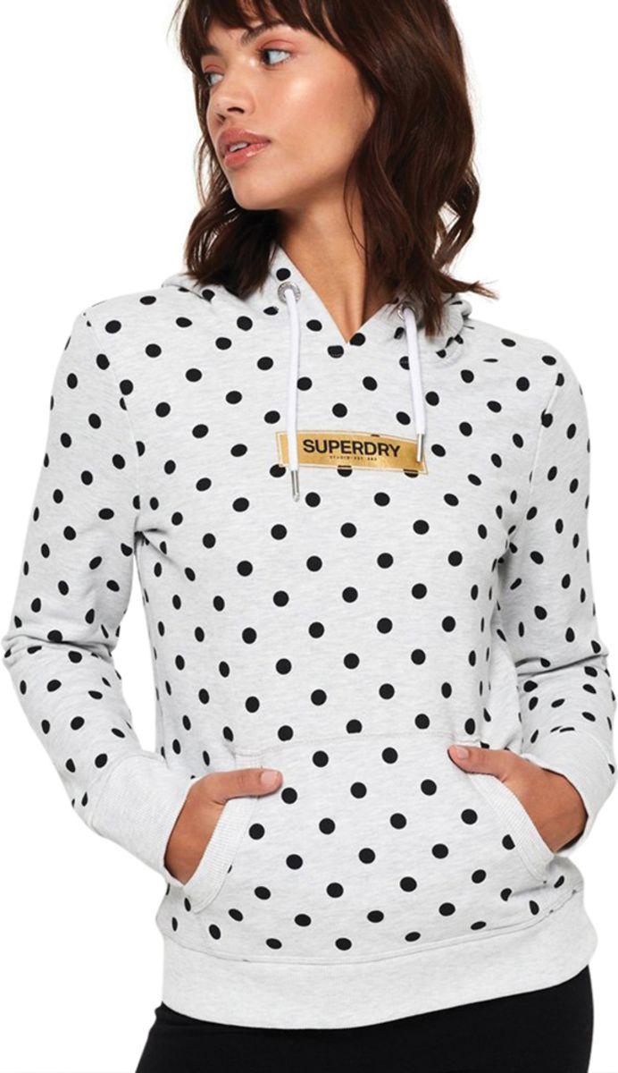Superdry Women's Studio 395 Polka Dot All Over Print Hoodie
