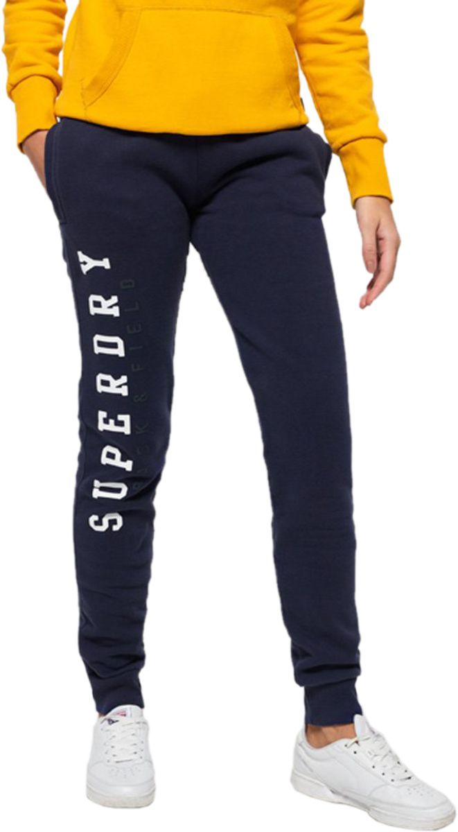 Superdry Womens Track & Field Jogger Bottoms Blue Blue Fade - L (UK 12-14)