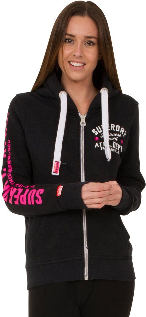 Superdry Women's Track & Field Zip Front Sweat Hoodie