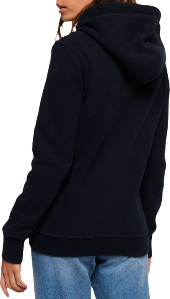 Superdry Women's 67 Genuine Fade Embroidery Hoodie Blue