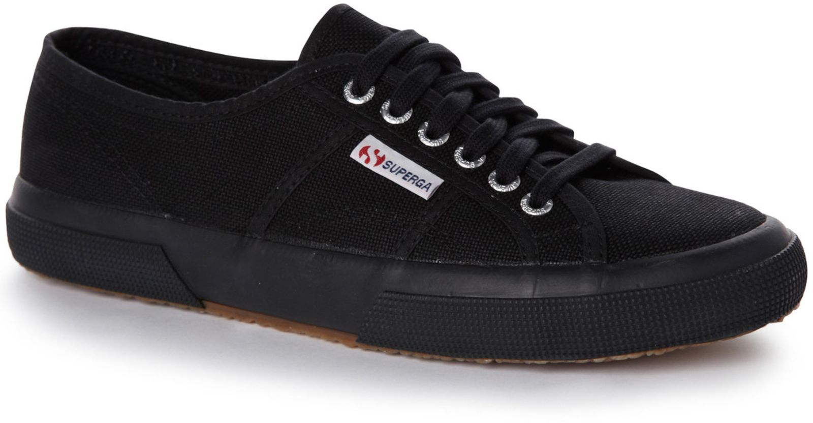 Superga 2750 Cotu Womens Trainers Full Black Full Black - UK 6 (EU 39.5)